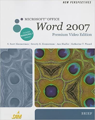 New Perspectives On Microsoft Office Word 2007 Brief Ebooks