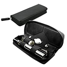 Tuff-Luv Vintage Faux Leather Luxury Travel Case & Refill Holder for E-Cig Box Mod Vape Pen - Black
