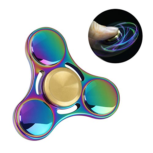 Smooth Relieve Your ADHD ZOND Anxiety Fighter EDC Fidget Spinner WeFidget 2-Pack Original Fast Galaxy Purple and Boredom Anxiety