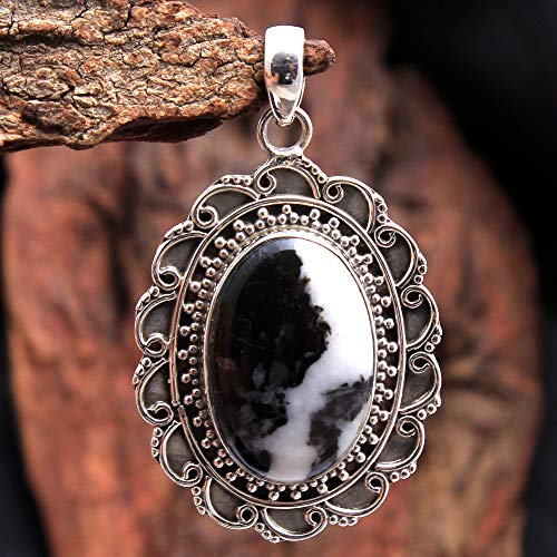 Easter Special Gift White Buffalo Turquoise Gemstone Designer Pendant 10.6 Gms 925 Sterling Silver Jewelry 1.9