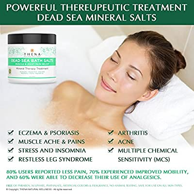 Organic Muscle Relief Soak With Arnica & Stress Relief Essential Oils For Relaxation, Natural Arthritis Remedies Best Spa Bath Sea Salts Product, Soothe Joint Back Neck Shoulder Pain Aches Tension