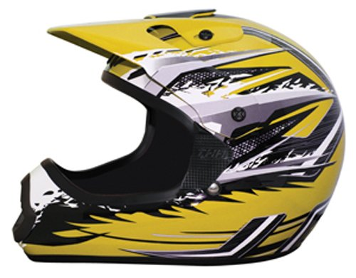 Yellow//Gray, Large THH Helmet TX-10 Youth Helmet