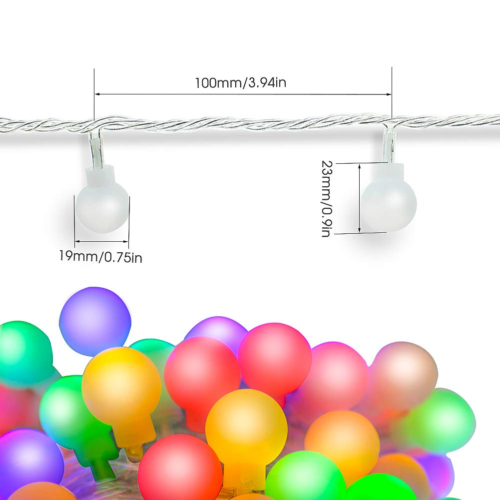 Led Globe String Lights 33ft 100 Colored Mini 8 Modes Displaying 17gt Images For Flash Memory Diagram Waterproof Fairy Indoor Outdoor Home Garden Patio Gazebo Ceiling Party