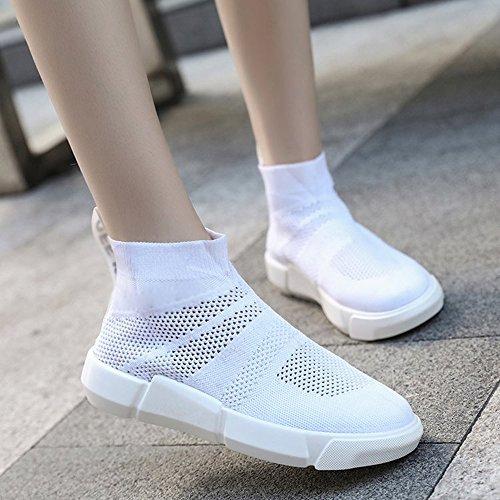 Sportive Co Sneakers Calzettoni Estive Donna White Da Da Calzature CITW Scarpe Traspiranti qUTxSwCqRv