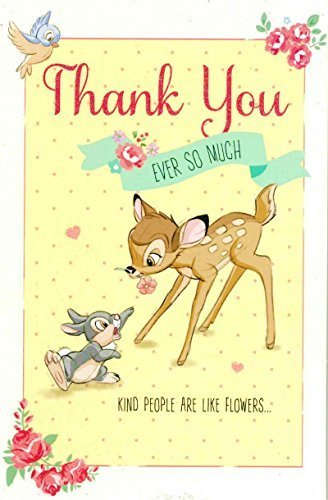 Disney Thank You Cards (Carlton Disney's 'Thank You Ever So Much' - Bambi and Thumper Thank You Card -)