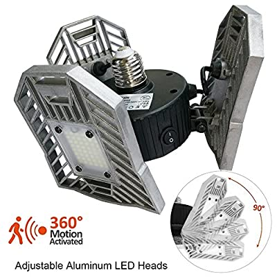 E26/E27 Garage Light 60W 6000 Lumen Motion Activated Ceiling Light for Garage/ Attic / Basement / Home/stage lighting