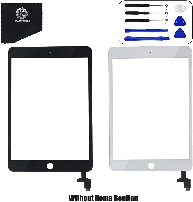 Bouton Home Outils et adh/ésif pour A1432/A1454/A1455/Mini 2/A1491 pour iPad Mini 1//& 2/DE Remplacement d/écran Num/ériseur /à /écran Tactile Avant en Verre avec Puce IC