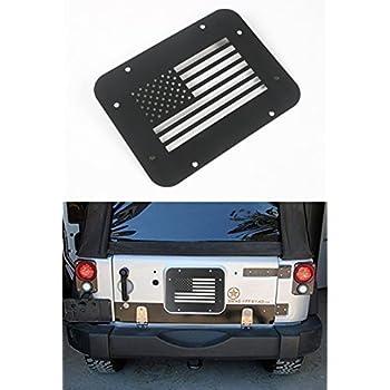 Amazon Com Opar Black Steel Usa Flag Tailgate Vent Plate