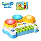 Baby Musical Toys Drums Piano Toys Keyboard Toddler Musical Instrument,Learning and Development Baby toys 6 to 12 months Toddler Toys With Light And Music Set for Girls And Boys Early Educational Game