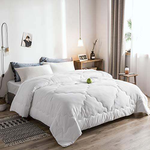 Melody House White Down Alternative Comforter Duvet Insert Medium Weight for All Season Warm Super Soft Hypoallergenic, Queen (Melody House)