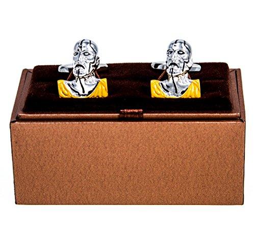 MRCUFF Zombie Pair Cufflinks in a Presentation Gift Box & Polishing -
