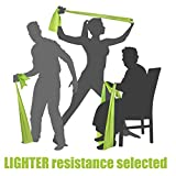 LIGHT TENSION EXERCISE RESISTANCE BANDS - Home Gym Fitness Equipment. Ideal for Physical Therapy, Strength Workout, Theraband, Pilates, Beachbody, Yoga, Mat, Rehab, Seated | LATEX-FREE | 6.5ft