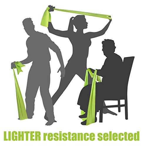 Band Flashlight Tv (LIGHT TENSION EXERCISE RESISTANCE BANDS - Home Gym Fitness Equipment. Ideal for Physical Therapy, Strength Workout, Theraband, Pilates, Beachbody, Yoga, Mat, Rehab, Seated | LATEX-FREE |)