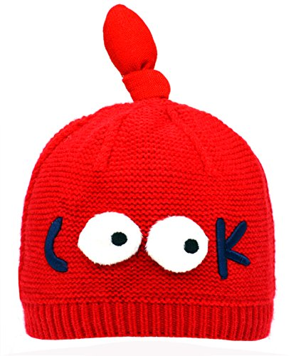 Toddler Baby Infant Soft Cute Hat Cap Beanie Knot Crochet Knitted Lined Cap Girls and Boys Winter Hat (Gorros Crochet Halloween)