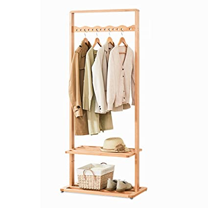 Amazon.com: Teng Peng Coat Rack Wood Hanger Floor Home ...