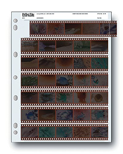 (Archival Storage Sheets 35-7B25 for 35mm Film Negatives 7 Strips 25 Pack)