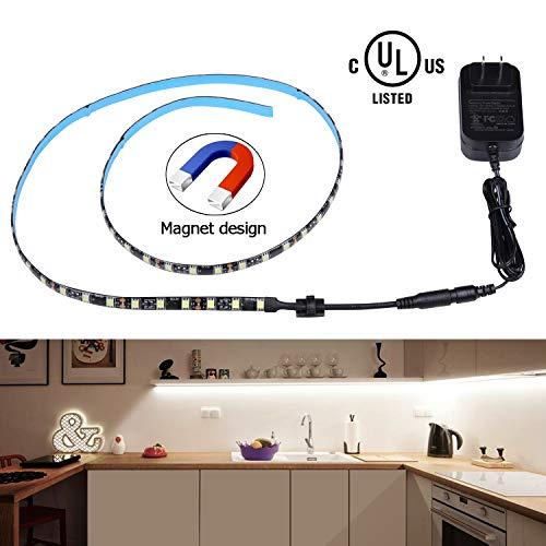 LED Magnet Strip Lights, Miheal Black PCB Strip Light LED Tools Lights Kits for Home,Kitchen,Trucks,Sitting Room and Bedroom Decoration.