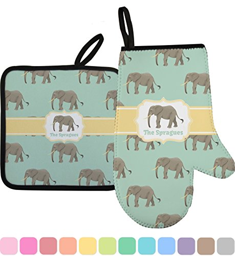 RNK Shops Elephant Oven Mitt & Pot Holder (Personalized) by RNK Shops