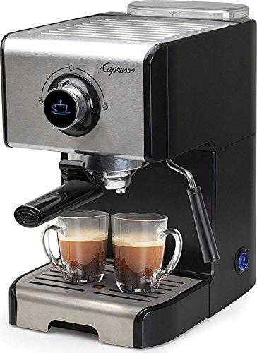 Capresso 123.05 EC300 Espresso and Cappuccino Machine, Stainless Steel/Black by Capresso