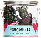 HUGGLE HOUND 132034 16-Piece Hugh Hugglecats 16Pc Assorted Mice with Organic Catnip Canister