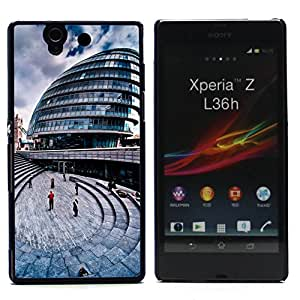 Graphic4You London City Hall UK Postcard Design Thin Slim Rigid Hard Case Cover for Sony Xperia Z
