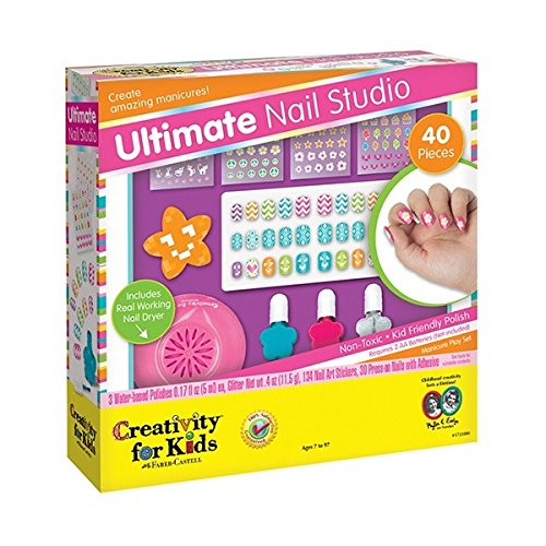 Hot Focus Girls Ultimate Nail Studio Manicure Gift Set Kit
