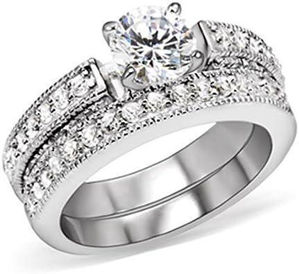 Yourjewellerybox - Anillo con detalle de anillo de matrimonio ...