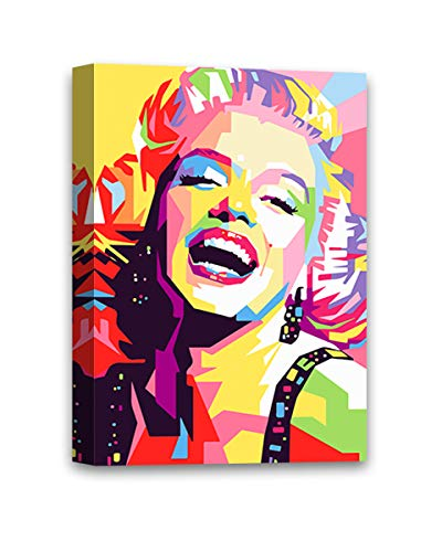 Christmas Ugly Sweater Cal Bright Monroe Canvas Decor Marilyn Monroe Pop Art Decor Saucy Modern Artwork Bedroom Decor White 24x36 - Canvas ONLY, Without Frame ()