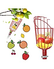 Fruit Picker Tool, Apple Picker with Pole,Professional Gardening Fruit Picker Tool for Picking Apple Fig Pear Peach Orange Mango (Head Without Pole)
