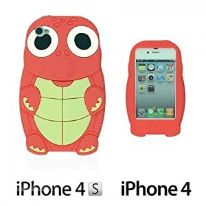 Turtle Style 3D Silicone For SamSung Note 3 Case CoverRed