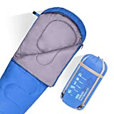 JBM Mummy Sleeping Bag 4 Season 30℉(0℃)/60°F(30°C)Twin Single Water Resistant and Repellent Insulated Sleep Bag All Seasons for Camping Hiking Traveling Packaging Including Compression Sack