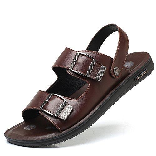Uomo da Brown Toe Uomo Moda Pantofole da Scarpe da Open Estate Spiaggia Sandali Scarpe gBpx7p