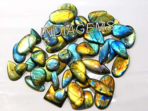 100/% Natural Multi Shine Labradorite Mix Cabochon Loose Gemstones Lot ~ 201 Carats 14mm-22mm 15 Pieces Labradorite