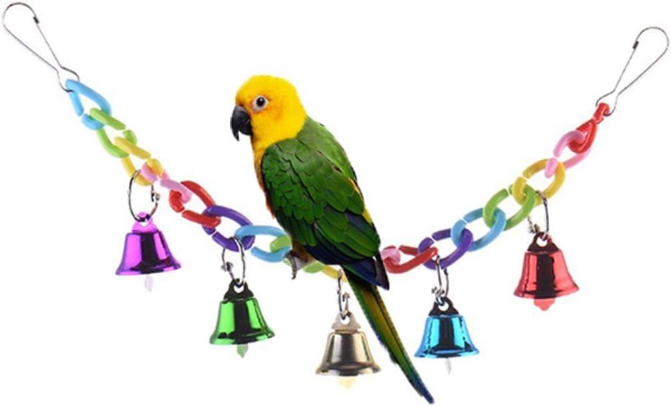 Keersi Columpio Colorido con Campanas para pájaros