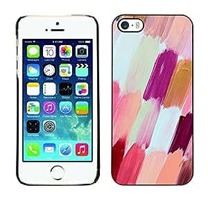 Paccase / SLIM PC / Aliminium Casa Carcasa Funda Case Cover para - White Purple Peach Nail Polish - Apple Iphone 5 / 5S