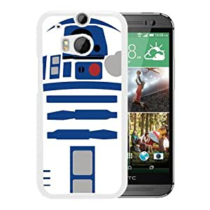 Fashionable And Unique Designed Case For HTC ONE M8 Phone Case With tar Wars R2D2 Robot White