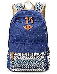 Gintan Exotic Style Canvas Polka-Dot Print Casual Daypack College Student Satchels