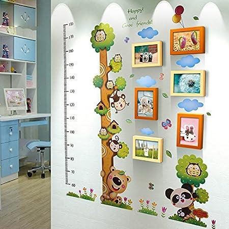 nauy 6 box frame wall decoration solid wood photo wall children