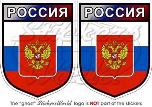 Russland Russische Föderation Shield 75 Mm 7 6 Cm Bumper Sticker Aufkleber Vinyl X2 Garten