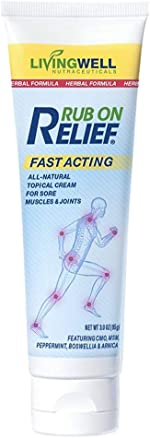 Rub on Relief Fast Acting Pain and Ache Relief Natural Cream
