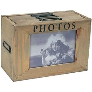 La chaise longue 27-D5404 - Caja álbum de fotos (madera, 3 cajones, 24 fotos de 10 x 15 cm)