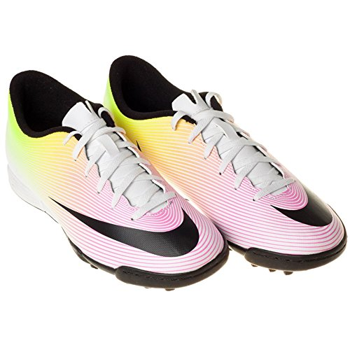 Nike Herren Mercurial Vortex II TF Fußballschuhe Blanco (Blanco (White/Black-Volt-Total Orange))