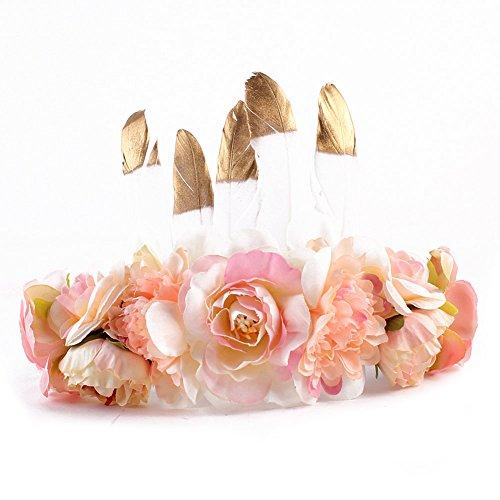 Kids Fashion Exquisite Flower Wreath Headband Floral Crown Garland