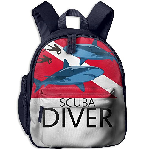Mortimer Gilbert Scuba Divers With Sharks Kids School Bags Backpack Boys Girls Bookbag ()