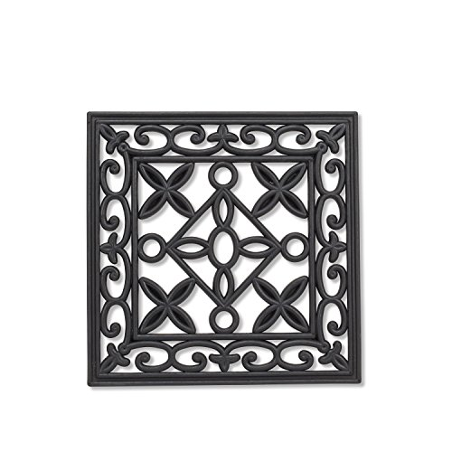 Abbott Collection 35-Rubber/2147 Square Stepping Stone Mat (Wrought Stone Iron)