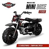 Mega Moto MM-B212-MXS (Black/Red) 212CC 7.5HP with Suspension Mini Bike