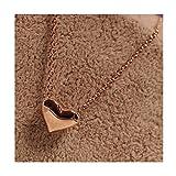 Iuhan Fashion Women Gold Heart Bib Statement Chain Pendant Necklace Jewelry