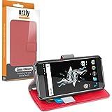 Orzly® - Cover Multifunzione per OnePlus X SmartPhone (Dual SIM 2015 Modello - OxygenOS UI Version) - CUSTODIA con PORTAFOGLIO e comodo SUPPORTO INTEGRATO (Multi-Functional Wallet Stand Case) - ROSSO
