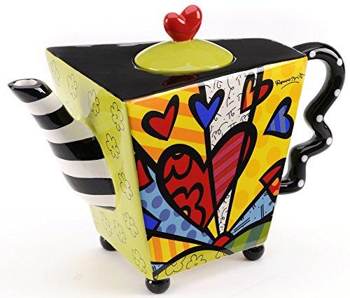 Romero Britto Ceramic Teapot, 48oz - A New Day Design