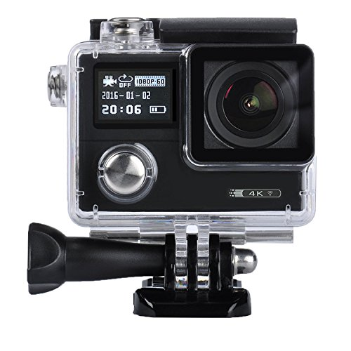 Sports Action Camera,4K HD WIFI Action Camera 12MP 2.0 Inch LCD Waterproof Diving Camera with Dual Screen 170 Degree Wide Angle and Free Accessories Kit (Best Movie Camera)